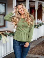 Molly Top - Olive Green