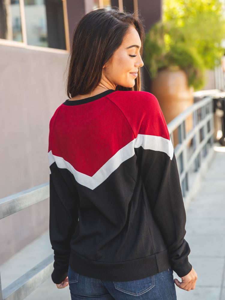 The Phoenix Sweater - Red/Black