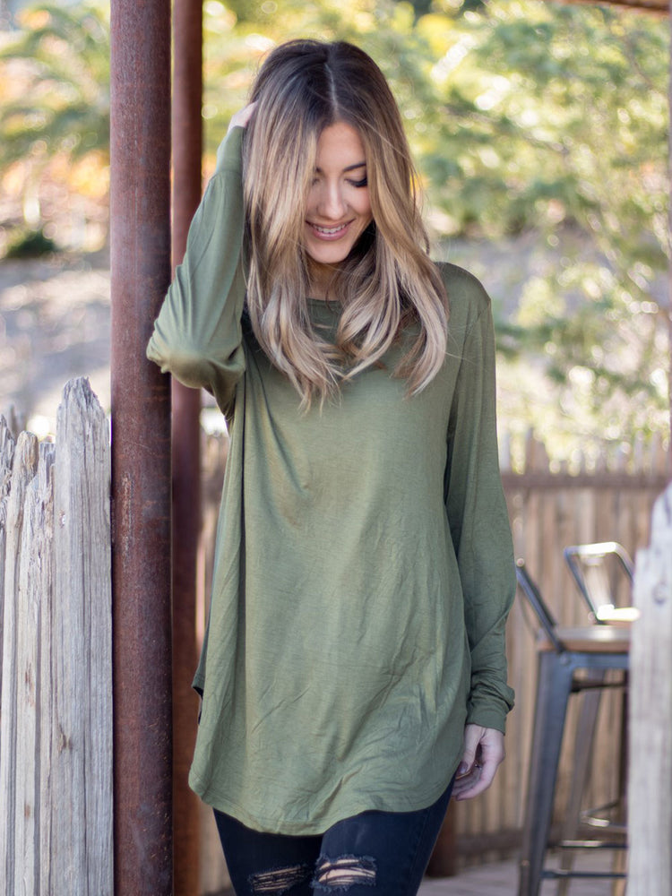 The Solid Mia Top - Olive