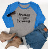 Disney's Forgotten Princess Raglan Tee - Tickled Teal LLC