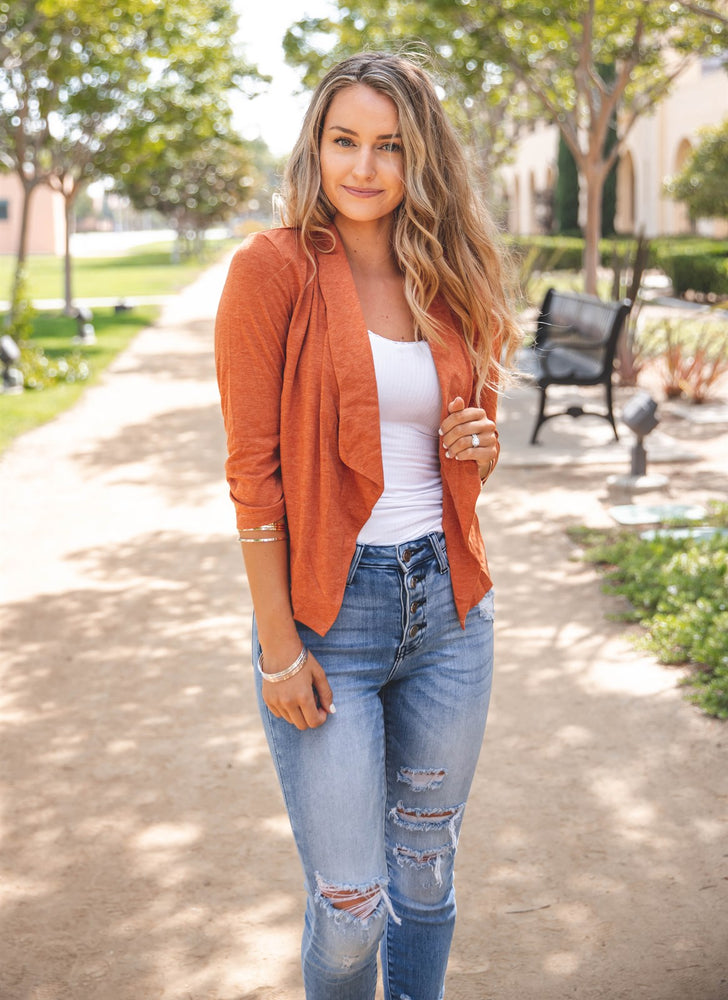 The Rae Blazer - Burnt Orange