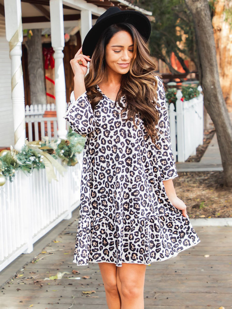 Memphis Dress - Tan Cheetah