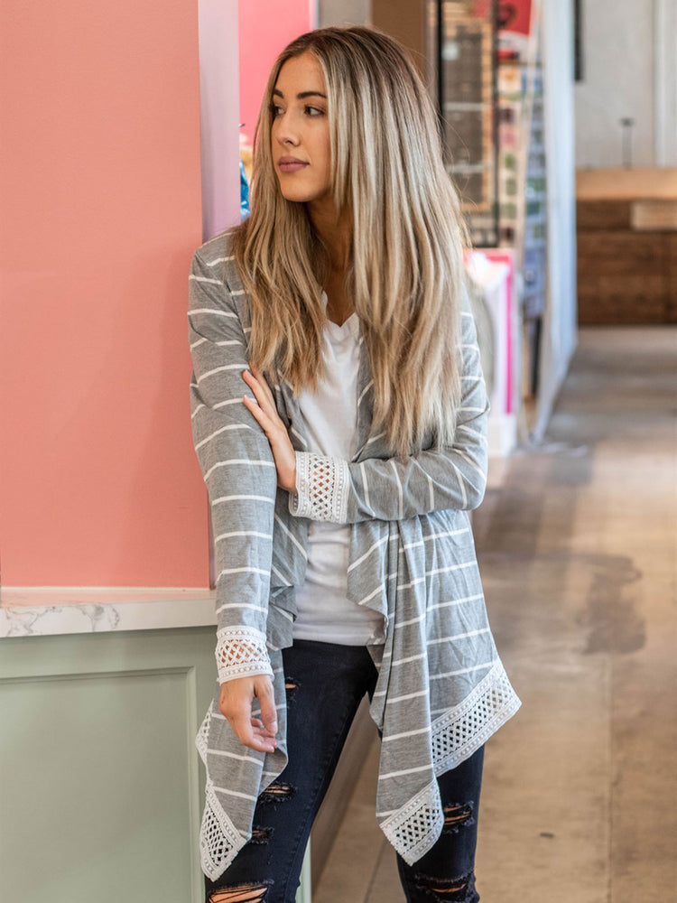 The Harlow Cardigan - Gray