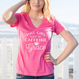 This Girl Runs on Caffeine and Grace Tshirt