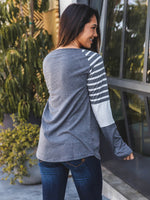 The Christy Top - Charcoal