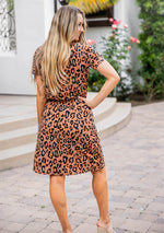 Cheetah Kolbie Dress - Brown