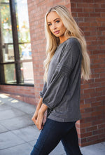 The Casey Top - Charcoal