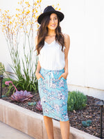 The Alexis Skirt - Blue Floral