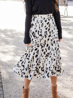 Amara Skirt - Cream Leopard