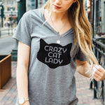 Crazy Cat Lady Tshirt - Tickled Teal LLC