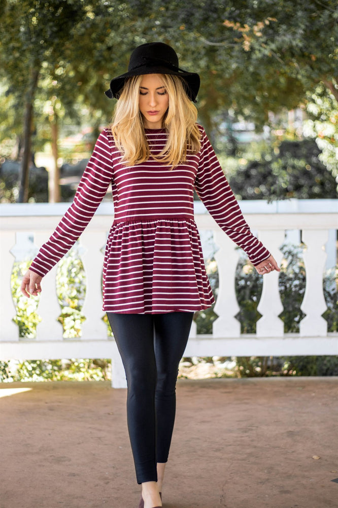 The Ember Top - Burgundy