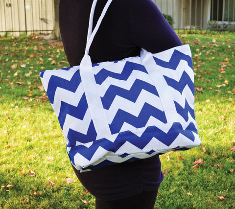 Chevron Tote Bag - Tickled Teal LLC