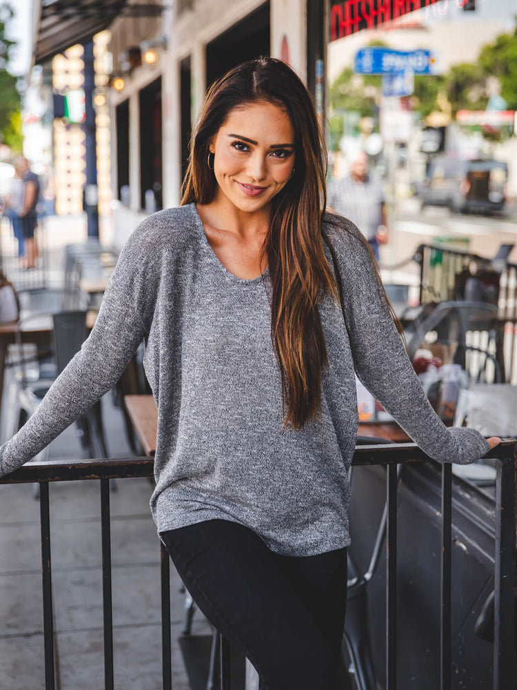 Lightweight Summer Sweater - Gray
