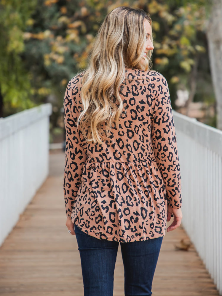 Animal Print Evelyn Top - Brown Leopard