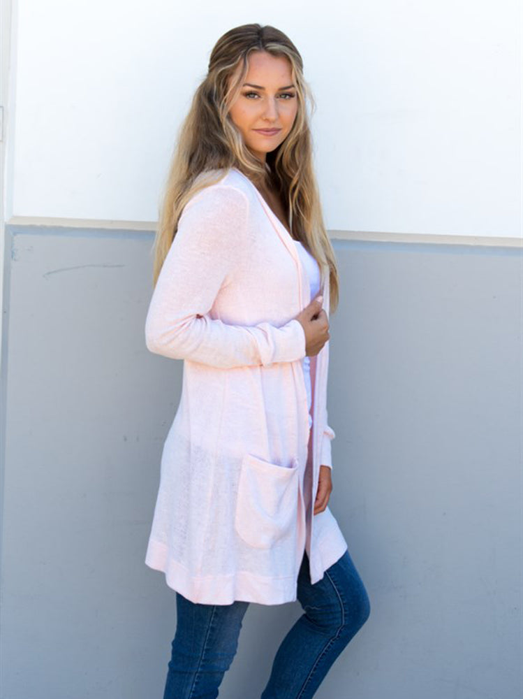 Knit Cardigan - Blush
