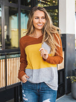 The Tammy Top - Orange/Yellow/Gray