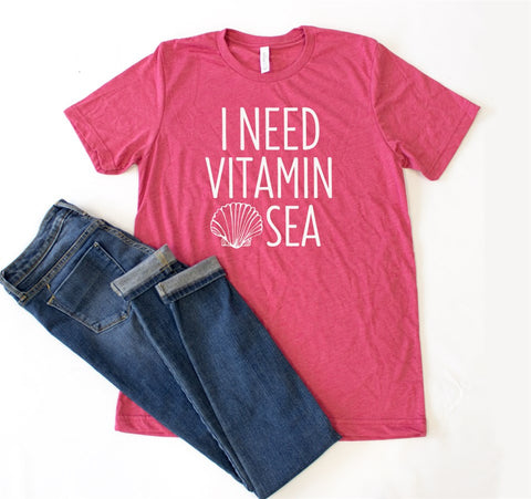 I Need Vitamin Sea Crew Neck Tee