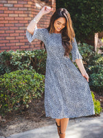 The Jojo Dress - Small Blue Cheetah