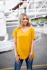The Brea Top - Mustard