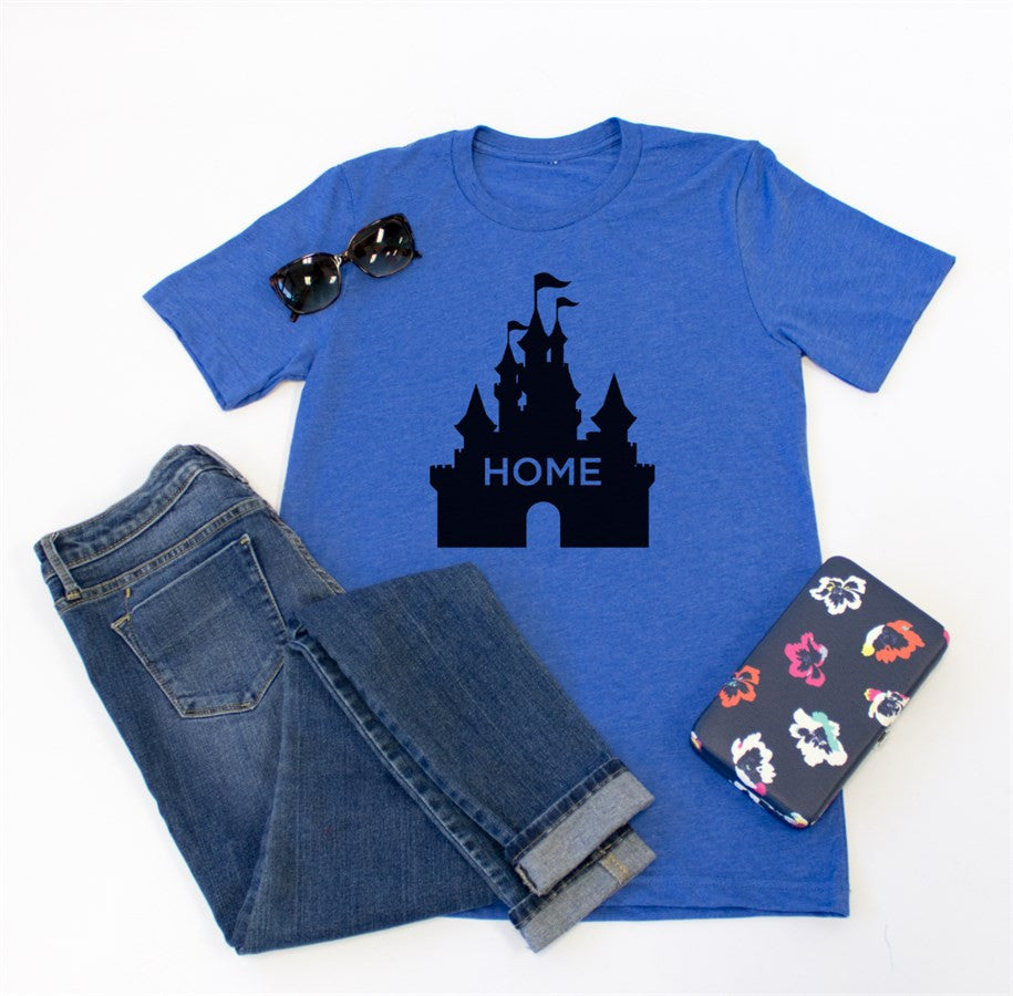 Castle Home Crew Neck Tee - Tickled Teal LLC