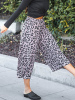 Erin Gaucho Pants - Taupe Leopard