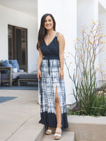 Tie-Dye Maxi Dress - Navy