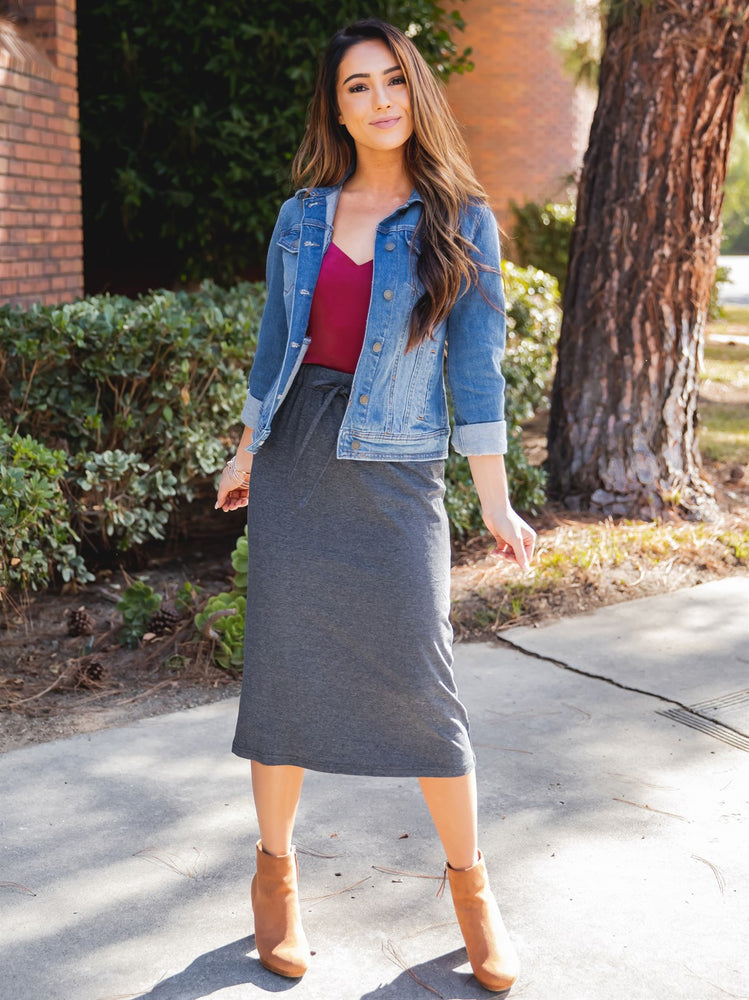 The Sonny Skirt - Charcoal