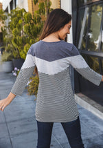 Darla Top - Charcoal/Gray/Charcoal