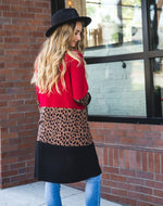 The Briana Cardigan - Red