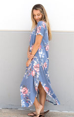 Vintage Floral Relaxed Maxi - Tickled Teal LLC