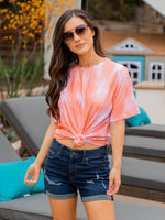 Oversized Watercolor Tee - Coral