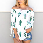 Cactus Off Shoulder Top