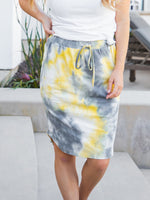 Tie Dye Weekend Skirt - Yellow/Gray