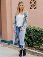The Camo Stripe Duster - Camo/Gray Stripe