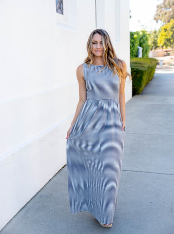 The Hazel Tank Dress - Skinny Charcoal
