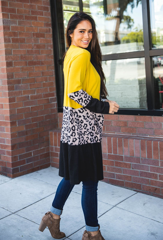 The Briana Cardigan - Yellow