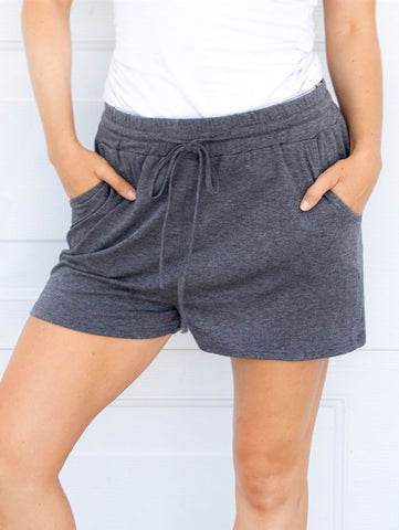 Solid Lounge Shorts - Charcoal