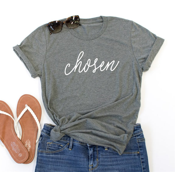 Chosen Crew Neck Tee - Tickled Teal LLC
