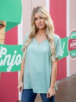 The Brea Top - Mint