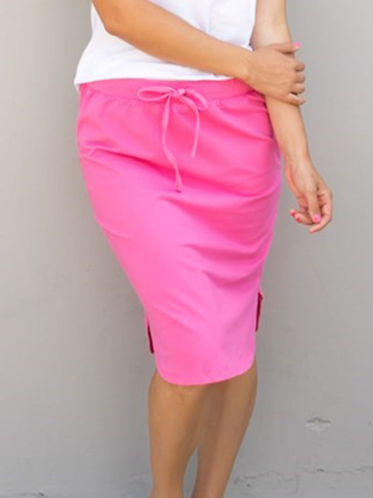 Solid Weekend Skirt - Pink - S-3X