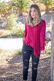 The Solid Mia Top - Cranberry