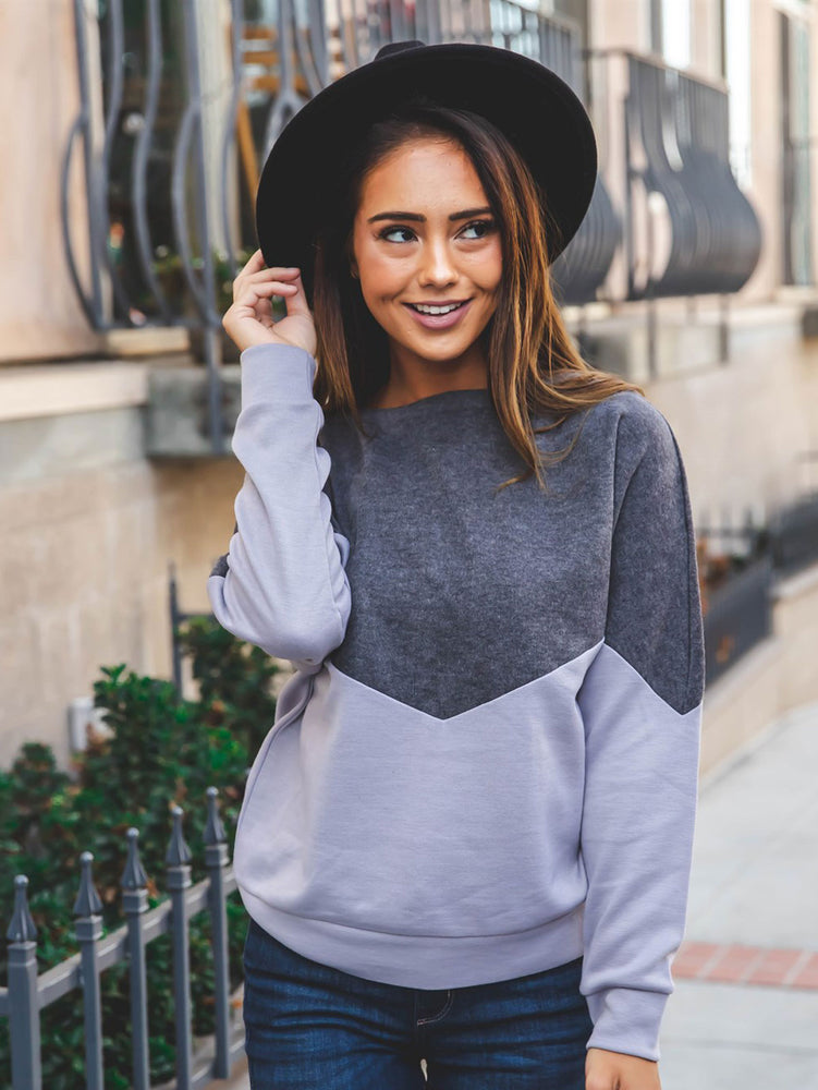 Georgia Pullover - Charcoal/Gray
