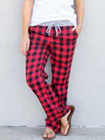 Buffalo Plaid Wide Leg Lounger