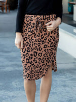 Leopard Weekend Skirt - Brown - S-3X