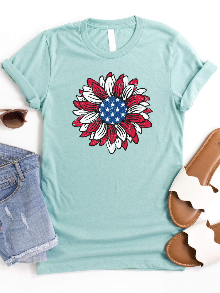 Flag Sunflower Graphic Tee