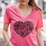 Floral Heart Tshirt - Tickled Teal LLC