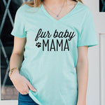 Fur Baby Mama Tshirt - Tickled Teal LLC