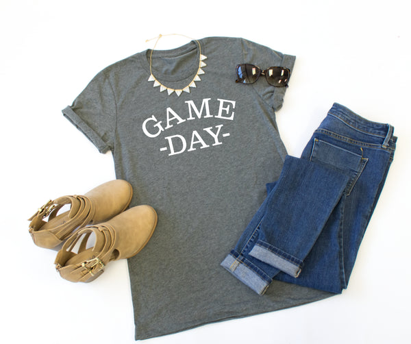 Game Day Crew Neck Tee - Tickled Teal LLC