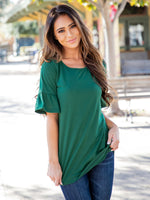 Solid Brooklyn  Top - Green