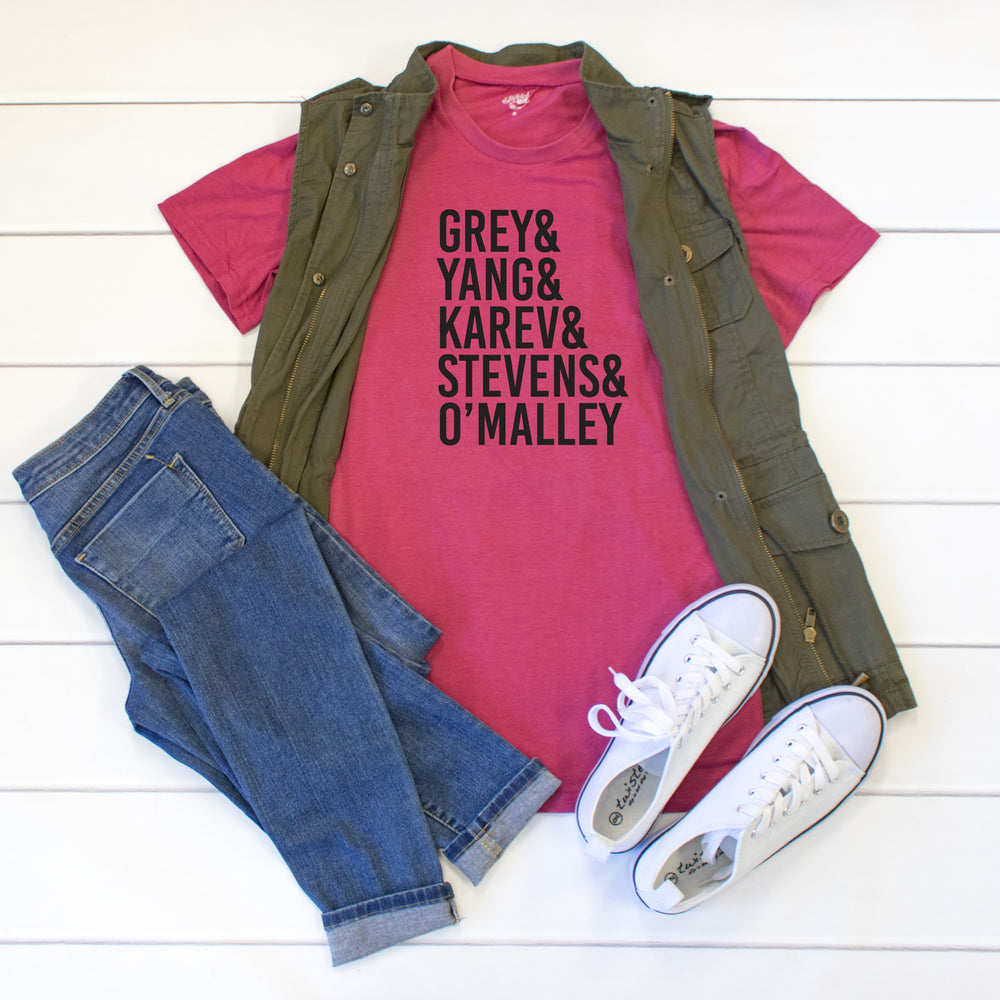 Greys Anatomy Crew Neck Tee - Tickled Teal LLC